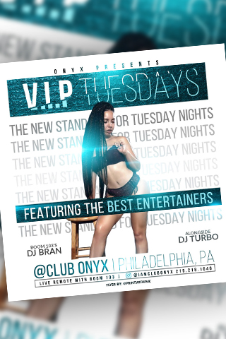 VIP TUESDAYS - THE NEW STANDARDS FOR TUESDAYS NIGHT...