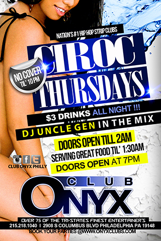 Graphic for Ciroc Thursdays