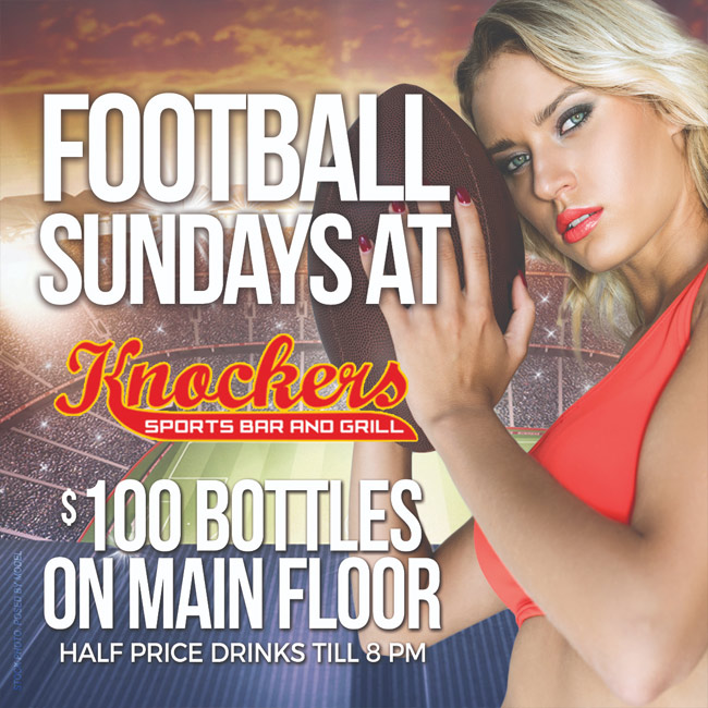 $100 Bottles Every Sunday - $100 bottles Sunday, Monday & Tuesday on the main floor!