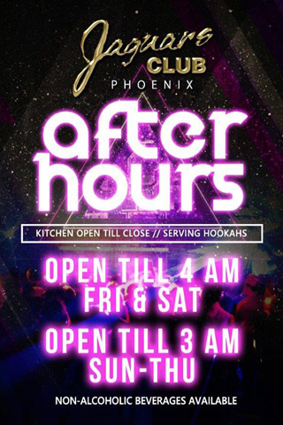 Saturday - After Hours Party - After Hours Party - Open until 4 AM