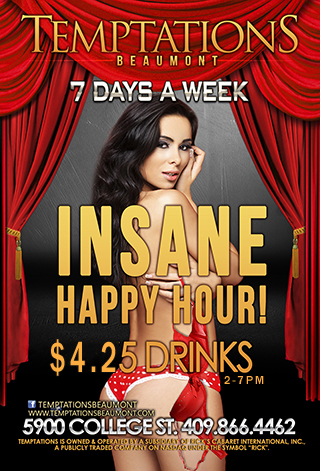 Graphic for Insane Happy Hour