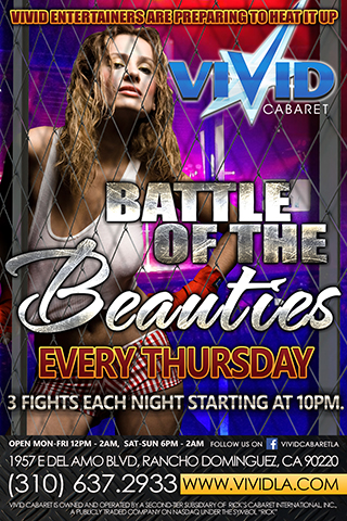 Vivid Battle of the Beauties - Thursday nights Vivid entertainers are preparing to heat it up with