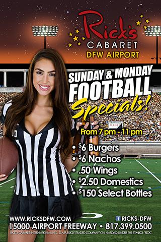 Sunday & Monday Football Specials