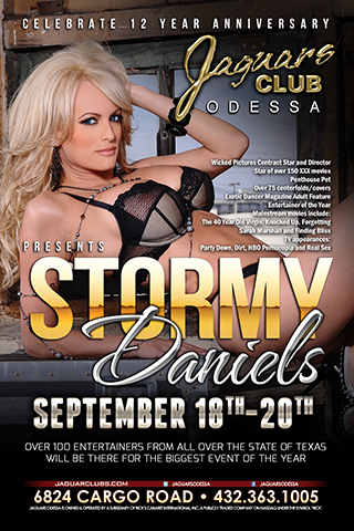 stormy daniels - *Wicked Pictures Contract Star and Director *Star of over 150 XXX movies *Penthouse Pet *over 75 centerfolds/covers *Exotic Dancer Magazine Adult Feature Entertainer of the Year
