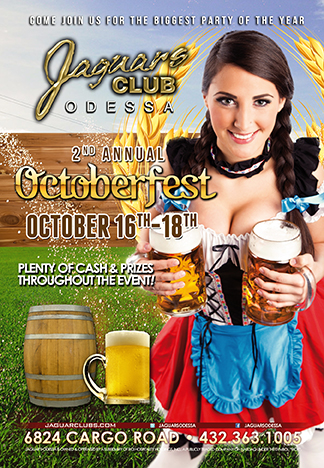 october fest - Jaguars biggest party of the year come join us for our 2nd annual October fest party with plenty of cash and price contests throughout the event.