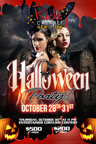 Halloween Party, decorate club, entertainer costume contest Thursday 10/30/14 11PM 1st prize $500 - 2nd prize $200