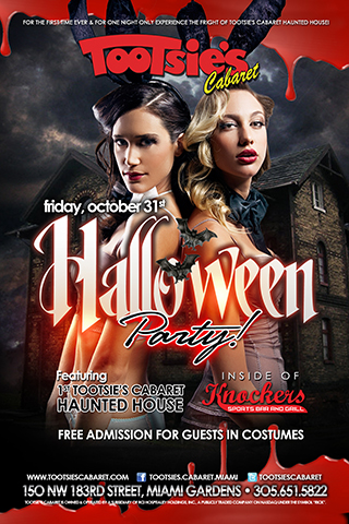 HALLOWEEN PARTY: Featured OCTOBER 31 at Tootsie's Cabaret