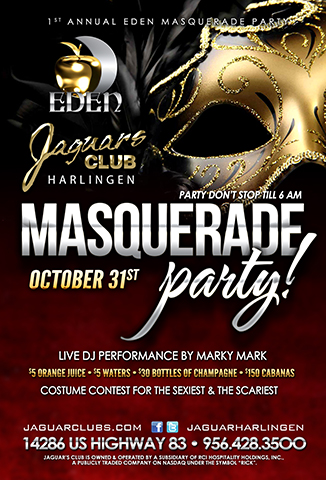 Eden Masquerave Party - Jaguars Harlingen Presents the 1st Annual Eden Masquerave Party!!!