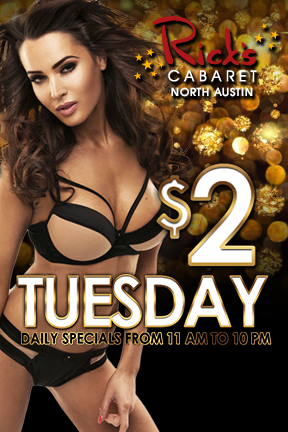 $2.50 drinks - wells & domestic beers, every tuesday from 11am - 10pm