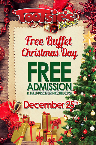 Christmas Day Buffet - Free Christmas Day Buffet! No cover and half price drinks til 8pm!