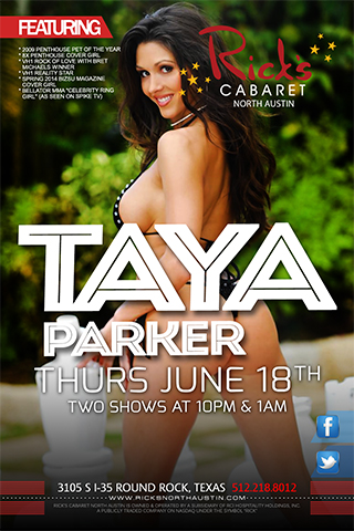 famous performer taya parker performing live on stage at ricks north austin.