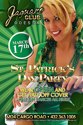 st patricks day party - st Patrick's day party March 27th  wear your green t shirt and get half off cover plus half price dances all night