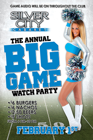 The big game Sunday watch party