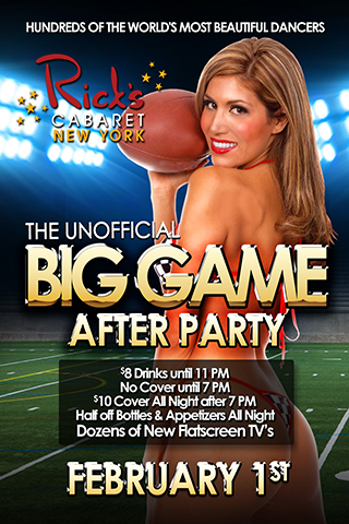 Unofficial Big Game After Party at Rick's Cabaret