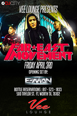 Vee Lounge Presents: Far East Movement