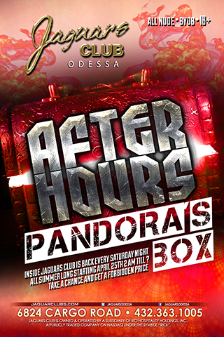 pandoras box - Pandora's box after hours inside jaguars club is back  every Saturday night all summer long starting April 25th 2 am till ?