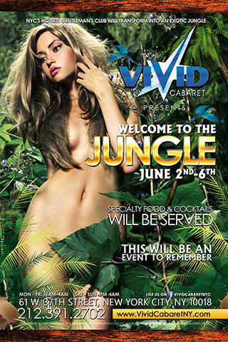 Welcome To The Jungle - Vivid Cabaret proudly presents our