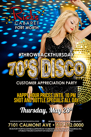 Throwback to the 70's Disco Customer Appreciation Party.