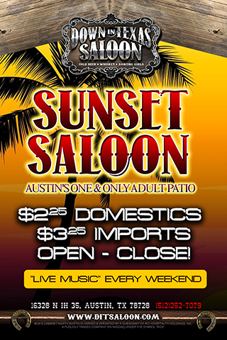 Sunset Saloon - Enjoy Live Music every week-end on our new & improved outdoor patio called 'Sunset Saloon'