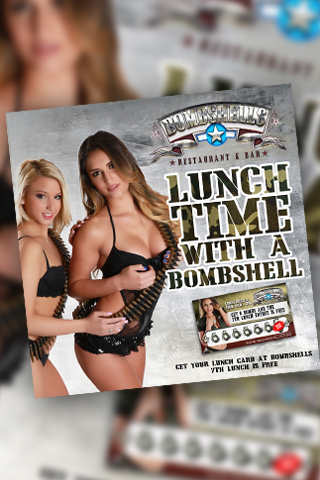 Graphic for Lunch Time with a Bombshells Babe