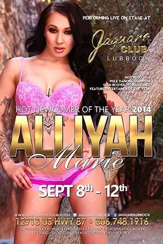 ALLIYAH MARIE - ALLIYAH MARIE SEP 8TH THROUGH THE 12TH