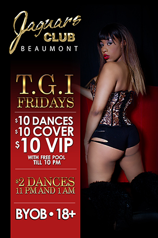 TGI  Fridays - $10 cover til 10pm