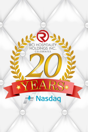 20 Year Anniversary IPO RICK - Celebrate 20 Years from the Initial Public Offering of RICK on the NASDAQ.