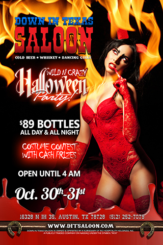 halloween party - 2 day event Friday & Saturday October 30th & 31st   The Wild & Crazy - Halloween Party          $89 Bottles Costume Contest - Cash Prizes