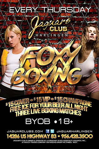 Foxy Boxing - three boxing matches starting at midnight