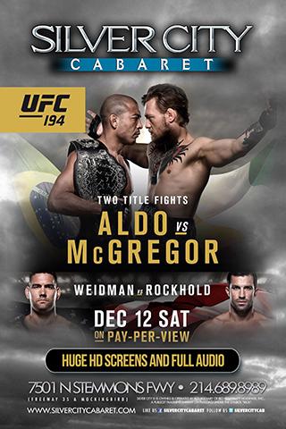 Aldo vs. McGregor Watching Party!