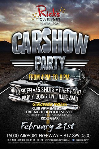 Rick's Cabaret DFW Car show
