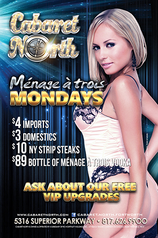 $89 Bottles All Night of Ménage à trois Vodka 