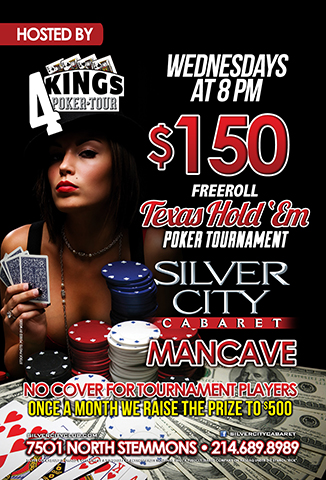 $150 Freeroll Poker Tournament hosted by 4 Kings on Wednesdays