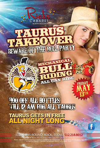 Taurus Takeover Beware of the bull event