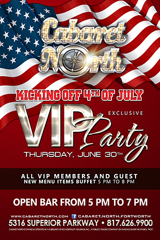 Pre 4th of July VIP party 