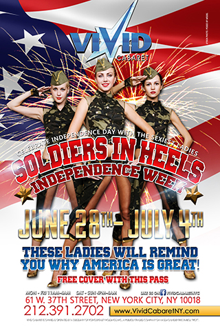 Soldiers in High Heels - This Independence Week Vivid Cabaret proudly presents
