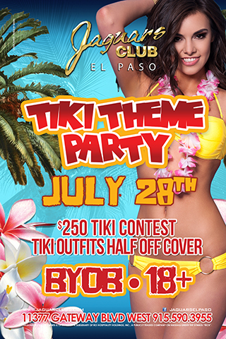 Tiki Party - Come and enjoy a Tiki Theme Party with the Jaguars crew and ladies. BYOB 18 and over party. $250 tiki contest.