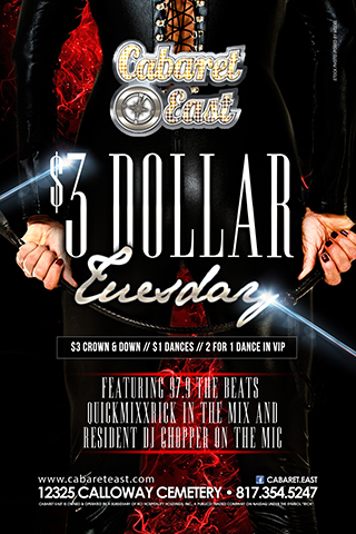$3 Tuesdays!
