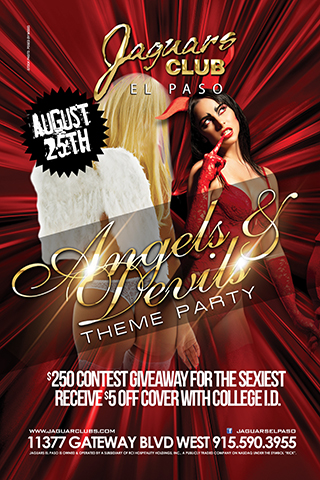 Devils & Angels Party - Contest giveaway for $250 for the sexiest devil or angels outfit.