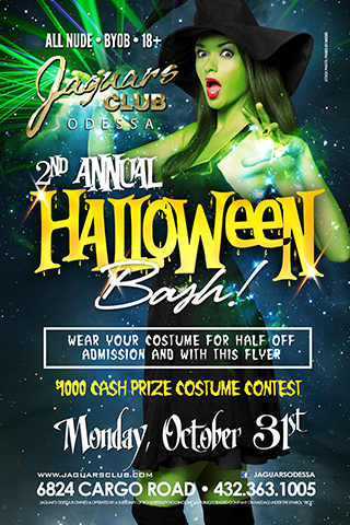 halloween bash - Second annual Halloween bash .Come dressed in a costume and get halve off cover with this flyer .As well as join our $1000 cash and price costume contests