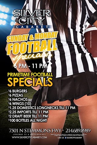 Sunday and Monday Football Specials