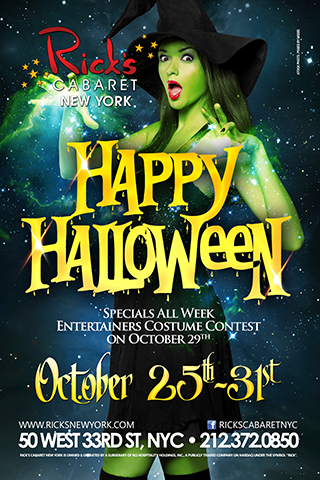 Halloween at Rick's Cabaret - Halloween Week at Rick's Cabaret. Enjoy Halloween Specials All Week. Cheer on your favorite entertainer in our Costume Contest.