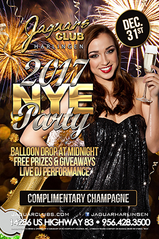 NYE Party 2016 - Jaguars Harlingen Presents:NYE Party Bring in the New Year the right way!