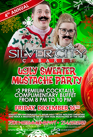 4th Annual Ugly Sweater & Mustache Party
