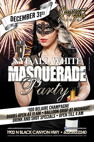 New Years Eve Party - All White Masquerade Party