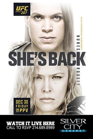 UFC 207: Nunes vs Rousey