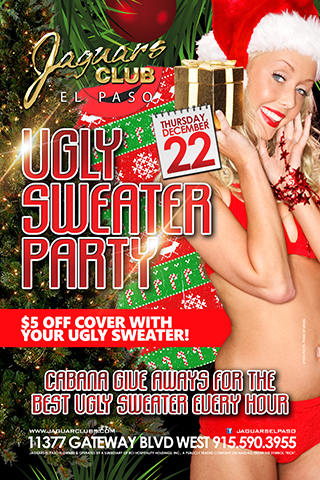 Ugly Sweater Party - Come and dust off that ugly sweater that mom bought you and enjoy temptation Thursdays during the holidays.