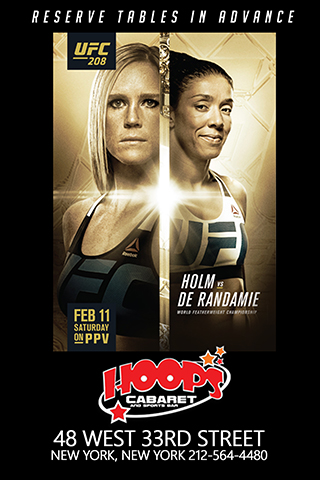 UFC 208 - Come enjoy this main event at the sexiest sports bar in NYC