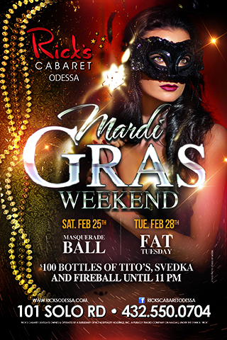 masquerade mardigras weekend - party with us for mardi gras weekend!! masquerade ball on Saturday the 25th and then fat tuesday mardi gras party on the 28th. $100 bottles of tito's, svedka, and fireball until 11 pm. guests who dress up get free cover. Come party like your on bourbon street!!