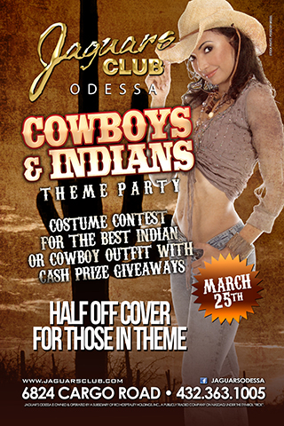 Graphic for cowboys and indians theme party